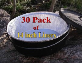 Disposable-Foil-Dutch-Oven-Liner-30-Pack-14-8Q-liners-No-more-Cleaning-Seasoning-your-Dutch-ovens-Lodge-Camp-Chef