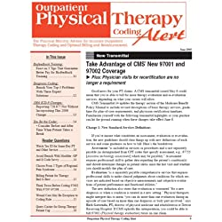 Outpatient Physical Therapy Coding Alert