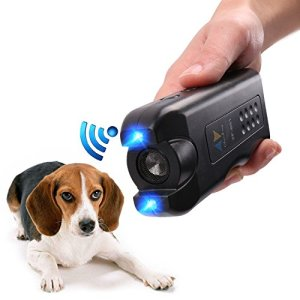 PET CAREE Handheld Dog Repellent, Ultrasonic Infrared Dog Deterrent, Bark Stopper + Good Behavior Dog Training