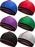 6 Pieces Elastic Band Silky Wave Caps for Men Silk Material for 360 540 and 720 Waves (Style 1)