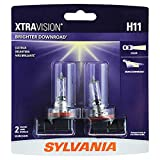 SYLVANIA - H11 XtraVision - High Performance Halogen Headlight Bulb, High Beam, Low Beam and Fog Replacement Bulb (Contains 2 Bulbs)