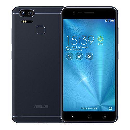 ASUS ZenFone 3 Zoom ZE553KL 4GB RAM / 64GB ROM 5.5-Inch 4G Dual SIM FACTORY UNLOCKED International Stock No Warranty (NAVY BLACK)