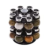 Kamenstein 5123721 Ellington 16-Jar Revolving Countertop Spice Rack Organizer with Free Spice Refills for 5 Years