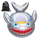 R HORSE Baby Shark Shaped Swimming Pool Float Cartoon Inflatable Fish Swimming Ring for Kids Toddles Aged 9-48 Months