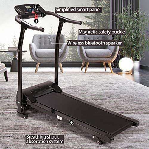 Finelylove Treadmill for Home Gym Running Machine, Multi-Functional LED Display Electric Folding Treadmill 6