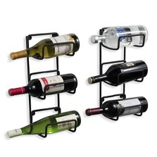 Black Iron Wall-Mounted Wine Rack, Industrial Design