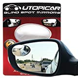 New Blind Spot Mirrors. Can be Adjustable or Fixed Installed. Car Mirror for Blind Side/Door Mirrors by Utopicar. Larger Image and Traffic Safety. Wide Angle Rear View! [Frameless Design] (2 Pack)