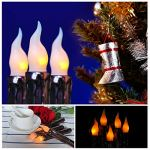LedBack-6Pcs-Primitive-Vintage-Flameless-Battery-Operated-LED-Taper-Candle-Real-Wax-Pillar-Wax-Dipped-Church-Candles-Grubby-Candles-for-Home-Fireplace-Christmas-Halloween-Primitive-Country-Decor