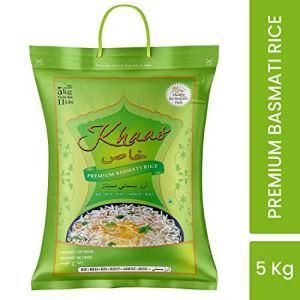 Khaas Premium Basmati Rice | Extra Long Premium Quality Grains in 5 Kg Pack