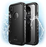 iPhone X Case, Clayco [Omni] Waterproof Full-body Rugged Case with Built-in Screen Protector for Apple iPhone X / iPhone 10 2017 Release (Black)