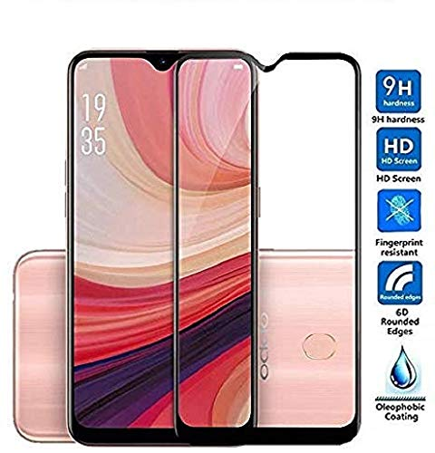 Techgadget 6D Curved Edge-To-Edge Tempered Glass for Oppo A7 N-1044 (Black) 149