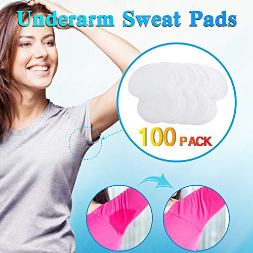 Underarm Sweat Pads - Fight Hyperhidrosis [100 Pack] for Men and Women Underarm Armpit Sweat Pads Shield Dress Shields Sweat Guard