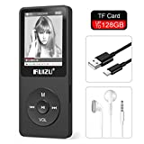 RUIZU X02 8GB MP3 Player Classic Style with FM Radio, Voice Recorder, E-Book, Video Play, Ultra Slim Player with 1.8'' Screen, Support up to 128GB Micro SD Card, Black