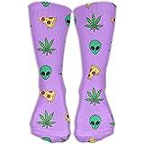 Marijuana Pizza Aliens Unisex Fashion Sports Compression Socks Running No Show Boat Socks
