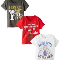 Peanuts Boys' 3 Pack T-Shirt