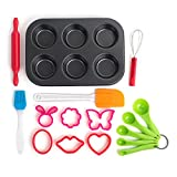 16 Piece Baking Set, the Perfect Next Step From the Easy Bake Oven. Kid Safe Cooking Tools for Cupcakes, Muffins, Pastries, and Cookies