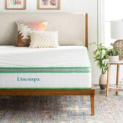LINENSPA 10 Inch Latex Hybrid Mattress – Supportive – Responsive Feel – Medium Firm – Temperature Neutral – Queen