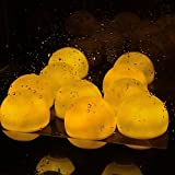 AGPTEK Warm White Floating Flashing Waterproof Mood LED Ball for Pool Pond (Pack of 6)