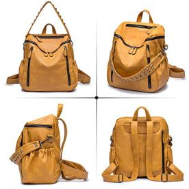 ROULENS-Women-PU-Leather-Backpack-Purse-Convertible-Ladies-Fashion-Casual-Travel-Large-School-Shoulder-Bags