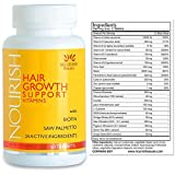 Nourish Beaute Hair Growth Vitamins - Nutraceutical Grade Hair Loss Supplement with Biotin and Powerful DHT Blockers - Fast Hair Regrowth Treatment for Men and Women - 100% Guaranteed