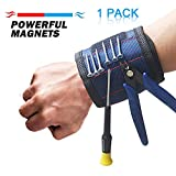 Ritastar 1 Pack Magnetic wristband with strong magnets for Holding Screws,Nails,Drill Bits,Bolts,Nuts,Fasteners,Scissors,Adjustable Tool Belt Band Sweatband Gift For Men,Women,DIY Handyman,Dad,Husband