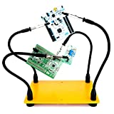 Helping Hands Soldering, Third Hand Soldering Tool PCB Holder Four Arms Helping Hands Crafts Jewelry Hobby Workshop Helping Station Non-slip Steel Weighted Base