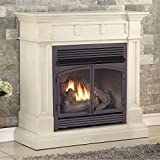 Duluth Forge FDF400RT-ZC Dual Fuel Ventless Fireplace-32,000 BTU, Remote Control, Antique White Finish