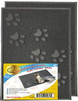 ANDALUS-Cat-Litter-Mat-SmallLargeX-Large-Size-Phthalate-BPA-Free-Traps-Messes-Scatter-Control-Easy-to-Clean-Large-2-Pack-Gray