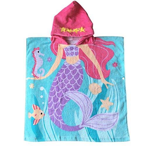 Child 100% Cotton Hooded Towel - (Mermaid)