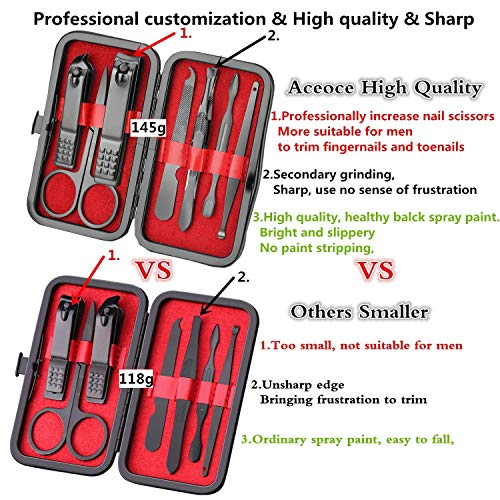 Manicure Set Personal care - Nail Clipper Kit Luxury Manicure 8 In 1 Professional Pedicure Set Grooming kit Gift for Men Husband Boyfriend Lover Parents Women Elder Patient Nail Care 6