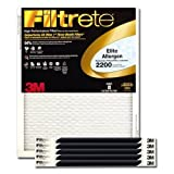 Filtrete Healthy Living Elite Allergen Reduction HVAC Air Filter, Uncompromised Airflow, Captures Fine Inhalable Particles, MPR 2200, 16 x 20 x 1, 6-pack