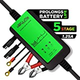 #1 Tender For Batteries 12V Automatic Trickle Charger - 1.25Amp 5 Stage Battery Desulfator Maintainer & Conditioner. Perfect Maintainance Everytime By KeyLine Chargers USA
