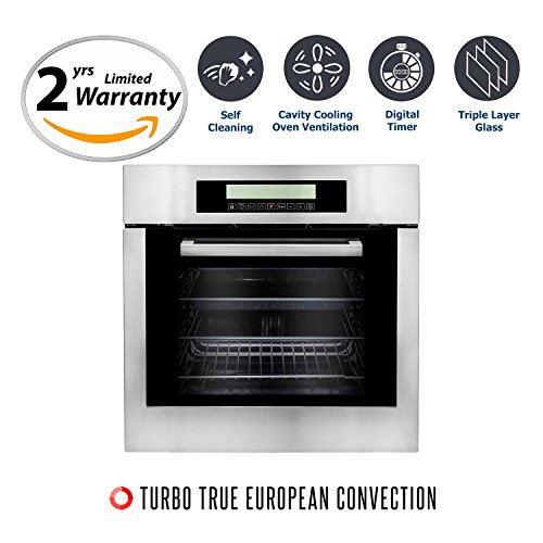 Cosmo C106SIX-PT 24 in. Single Wall Self Cleaning Electric Convection Oven in Stainless Steel