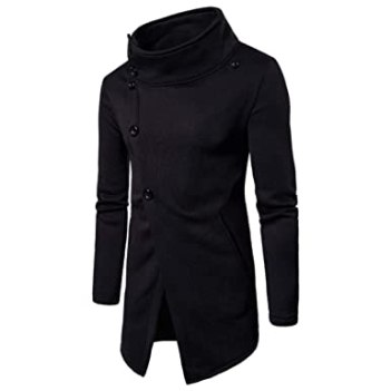 Image result for Forthery Clearance Men's Trench Coat Winter Pullover Long Jacket Button Overcoat