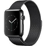 Apple Watch Series 2 42mm Smartwatch (Space Black Stainless Steel Case, Space Black Milanese Loop Band)