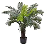 Nearly Natural 6817 Cycas Indoor/Outdoor UV Resistant Tree, 3'