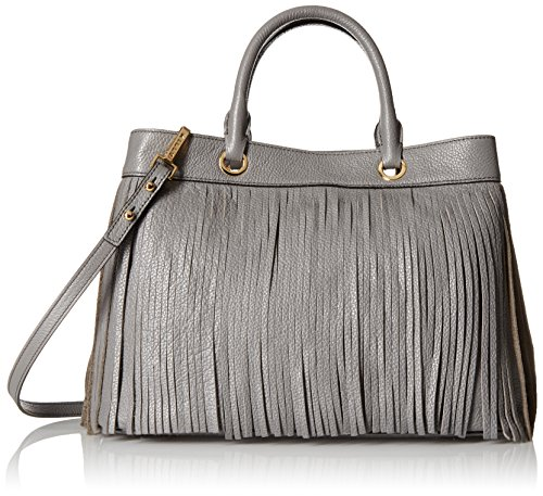 51Y4pEjmMyL Large handbag with evenly cut all-around fringe featuring top handles with gold-tone grommets and removable cross-body strap Store your bag in a cool, dry place out of direct sunlight in the protective dust bag provided. Never immerse in water as it could damage the fabric or leather.