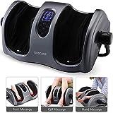 TISSCARE Shiatsu Calf Foot Massager Machine with Heat Leg Massager, Deep-Kneading for Tired Calf Leg Arm Plantar Fasciitis Neuropathy, Tired Muscles w/Adjustable bar