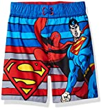 Warner Bros. Toddler Boys' Superman Swim Trunk, Blue, 2T