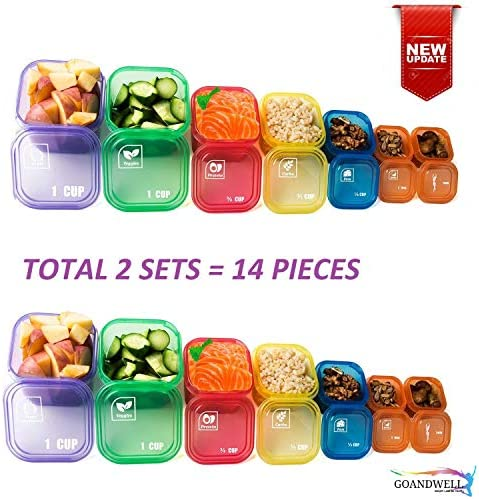 21 Days Containers and Food Plan - Portion Control Container Kit for Weight Loss - Portion Containers with Recipe - Double Set (14-Pieces) 2