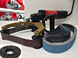 Pipe Tube Polisher Sander Grinder 10 Coated Zirconia Resin Bond Polyester Backing Belt 2 Silicon Carbide Grinding Wheel Disc for finishing re-conditioning stainless steel non-ferrous metals plastic