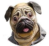 Miyaya@ Special New Latex Full Head Overhead Animal Cute Bulldog Mask for Mask Festival、halloween、easter or Dance Party