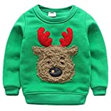 Product review for JELEUON Baby Boys Girls Toddler Lovely Christmas Knitting Cotton Thick Winter Warm Sweatshirt