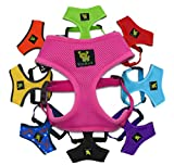 EcoBark Dog Harness 3-65 lbs; Innovative No Pull & No Choke Design, Soft Double Padded Vest for Control, Eco-Friendly with Quick Release for Puppies and Dogs (Pink, XS)