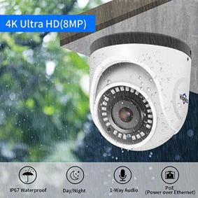 4K-PoE-Security-Camera-System-Hiseeu-8CH-PoE-Surveillance-NVR-Kit-with-3TB-HDD-4Pcs-4K-8MP-Waterproof-IP-Dome-Camera-1-Way-Audio-Support-Wired-Home-Security-System-No-Monthly-Fee-30-Days-Recording