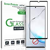 amFilm Glass Screen Protector for Galaxy Note 10 Plus, Note 10+ (2019) Tempered Glass, Dot Matrix with Easy Installation Tray (Not Compatible with The Fingerprint Scanner)