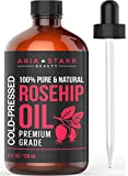 Aria Starr Rosehip Seed Oil Cold Pressed For Face, Skin, Acne Scars - 100% Pure Natural Moisturizer - 4 OZ