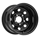 Trailmaster TM9-5865 TM9 Steel Wheel; Size 15X8 ;Bolt Pattern: 5x4.5 ;Back Space 3.75 in.; Finish Gloss Black;