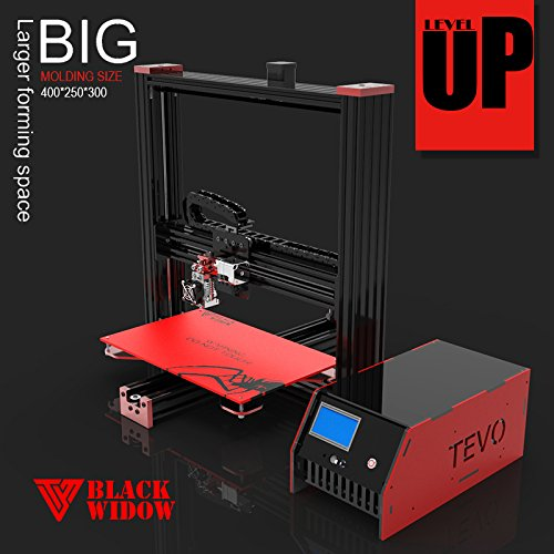 TEVO Black Widow 3D Printer Prusa i3 Variant w/ Huge Print Size & Aluminum Frame