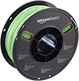 AmazonBasics PLA 3D Printer Filament, 1.75mm, Silver, 1 kg Spool